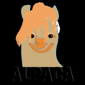 Alpaka mit komischer Frisur
