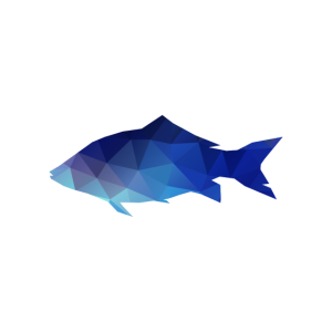 kubistischer Fisch angeln Fischer Angler