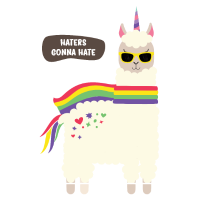Haters gonna hate Llama Lama Alpaka Kamel Geschenk