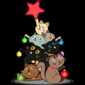 Weihnachten Katze Katzen Geschenkidee Geschenk