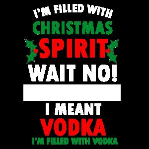 Weihnachten Stimmung Laune Lustig Saufen Vodka