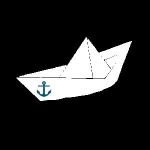 Papierschiff mit Anker - Ahoi