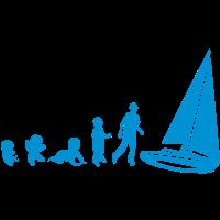 Entwicklung Segelboot Uhr schleier