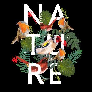 Stylish nature bird forest tree love present gift
