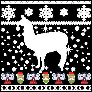 Lama Alpaca Xmas Weihnachten Ugly