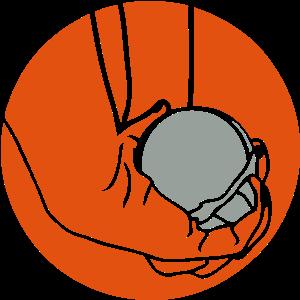 Petanque Ball-Logo Tuch Tampon2