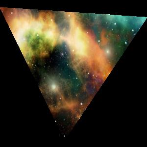 Galaxy Triangle - DREIECK Hipster Shirt Design