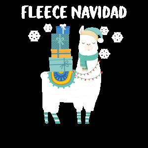 Alpaka Lama Weihnachten Fleece Navidad Geschenk