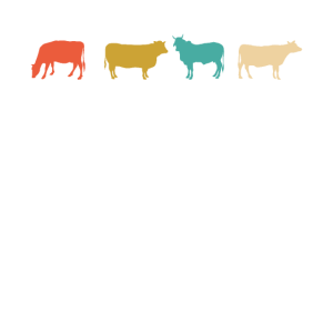 Kuh Kühe Rinder Retro Farm Bauernhof Vintage