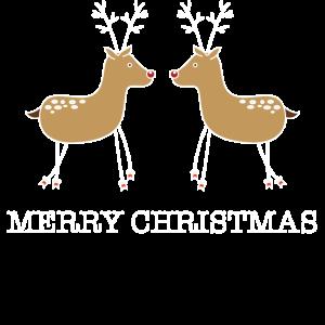 frohe Weihnachten Rentier Winter Geschenk