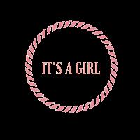 It's a Girl Logo in elegantem , schlichten Stil