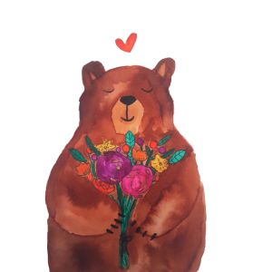 Bär - Blumenliebe