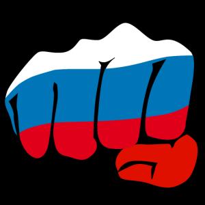 177 Faust Russland Fahne Kulak Russia