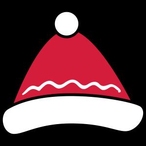 Mütze mit Bommel - Frohe Weihnachten, Merry Xmas