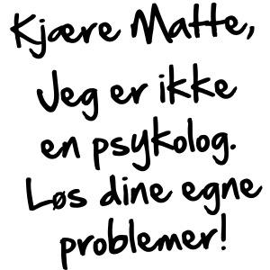 Kjære Matte