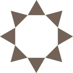 Dreieck Taupe im Kreis