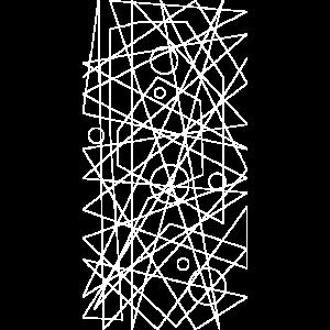 Chaos Linien Kreise Gitter