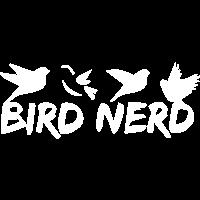 Bird Nerd Vögel Schwalbe Wellensittich Geschenk