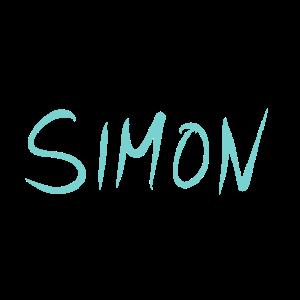 Name Namensschild Simon
