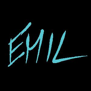 Name Namensschild Emil
