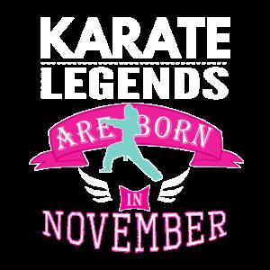 Karate-Legenden werden im November Mädchen geboren