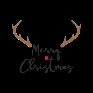 Merry Christmas rote Nase Rentier Geweih Deko