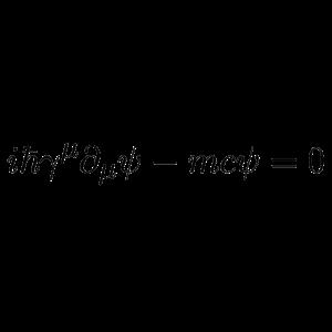 Die Gleichung von Paul Adrien Maurice Dirac