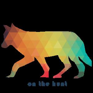 Wolf auf der Jagd