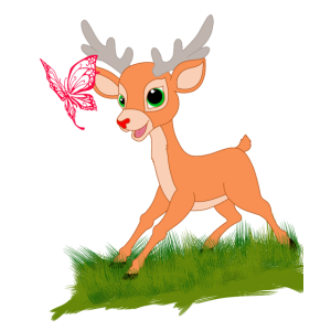 Bambi am spielen mit einem Schmetterling Geschenk
