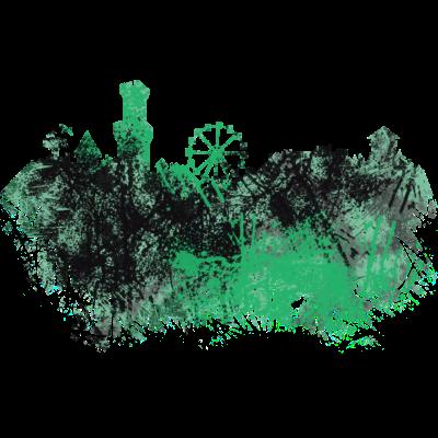 Fürth, City Skyline, Kunst, Malerei - Dieses Coole Fürth Design ist das perfekte Weihnachtsgeschenk für Männer, Frauen, Kinder, Geschwister und Eltern die Kunst und Malerei lieben. Färdd. - Weihnachtsgeschenk,Skyline,Silhouette,Malerei,Kunst,Fürth,Färdd,Farbspritzer,City skyline