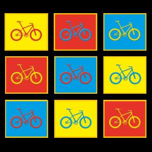 9 bunte Bikes
