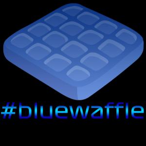 Blaue Waffel