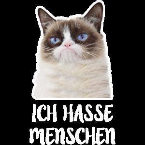 Grumpy Cat ich hasse Menschen meme Geschenk
