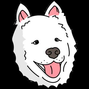 Shoobie Hund Samoyed Hund Illustration