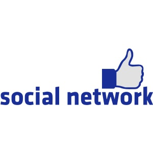 social network mit button