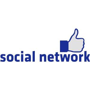 social network mit button