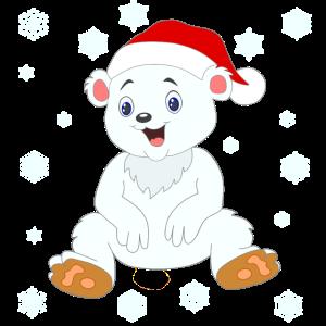 Baby Eisbär Weihnachten Illustration Comicstyle