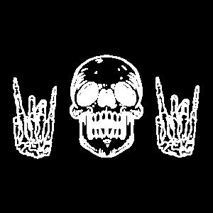 Totenkopf Hände Rock n Roll