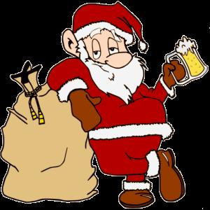 Weihnachtsmann mit Bier