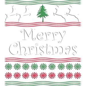 merry Christmas - Rentiere - Sterne