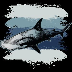 Hammerhai Haifisch Meer Jäger Ozean schwimmen