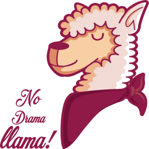 Alpaka Lama kein Drama Llama Halstuch