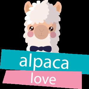 Alpaka Lama Liebe niedlich