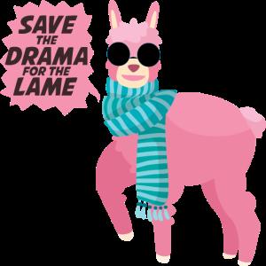 Alpaka - Lama - Drama - Schal