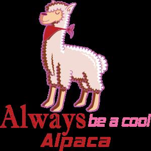 Alpaka immer cool Lama Halstuch