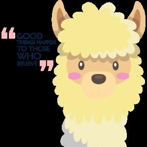 Alpaka Lama gute Dinge