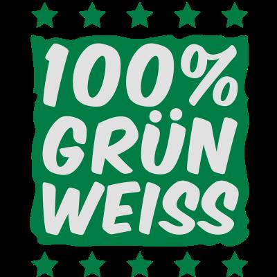 100_prozent_gruen_weiss__f2 - 100_prozent_gruen_weiss__f2 - weiss,verein,liga,grün,fußball,Fan,Bremer,Bremen,100,%