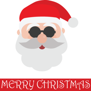 Frohe Weihnachten - Weihnachtsmann - mit Brille