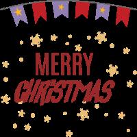 Frohe Weihnachten - Girlande - Sterne