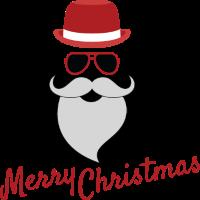 Frohe Weihnachten cooler Weihnachtsmann mit Brille